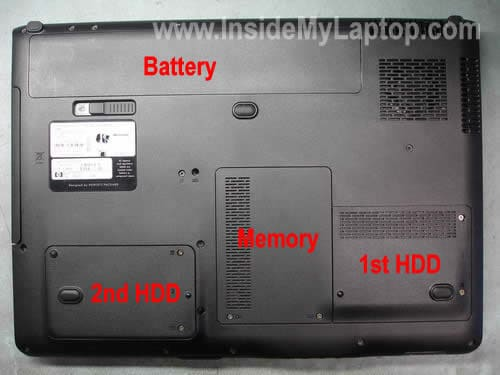 remove hp laptop hard drive