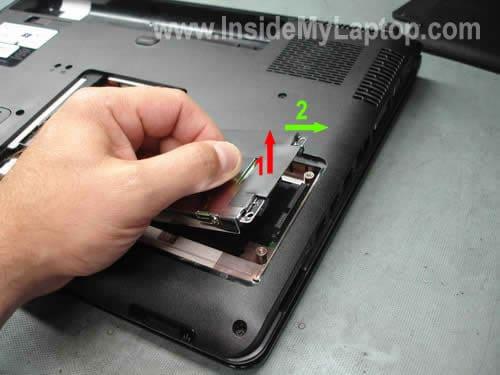 Remove laptop hard drive