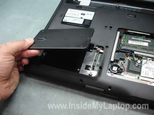 Remove second hard drive cover