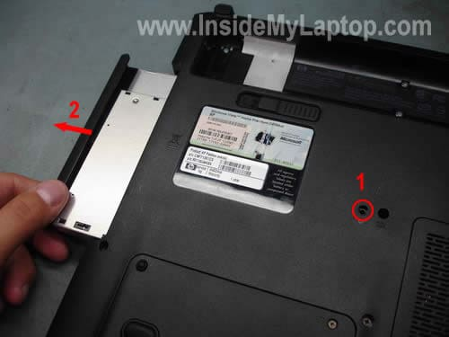 Remove laptop CD DVD drive