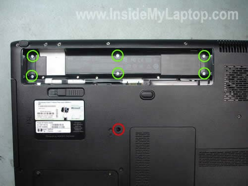Remove laptop screws