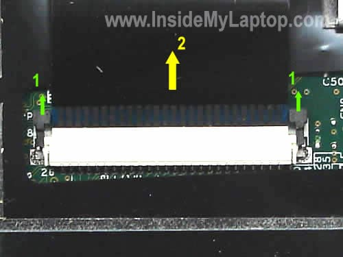 Unlock keyboard connector