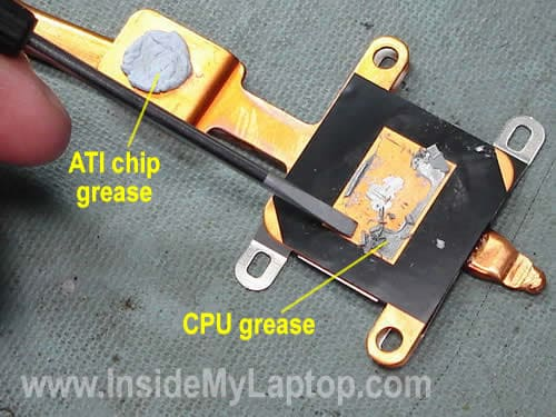 Remove old thermal grease