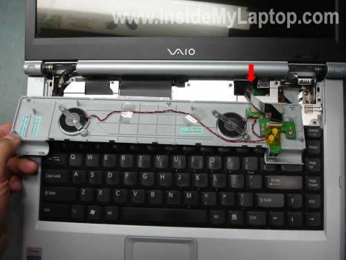 Keyboard bezel removed