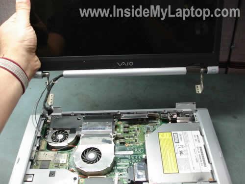 Remove notebook display panel