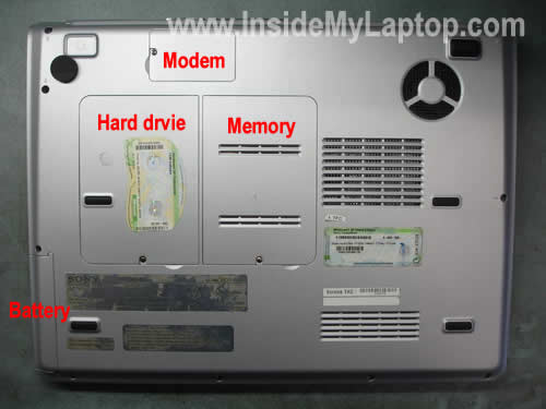 Remove hard drive memory modem covers