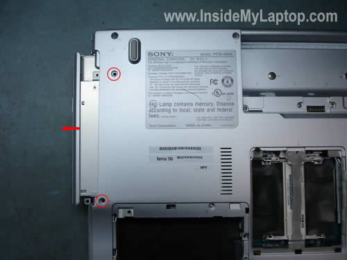 Remove laptop DVD drive