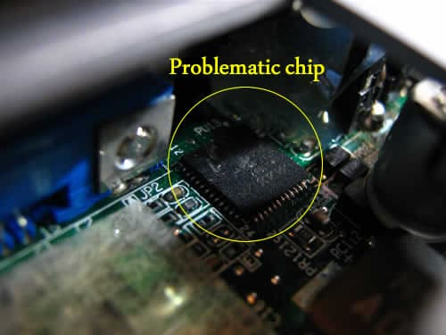Satellite M35X bad chip