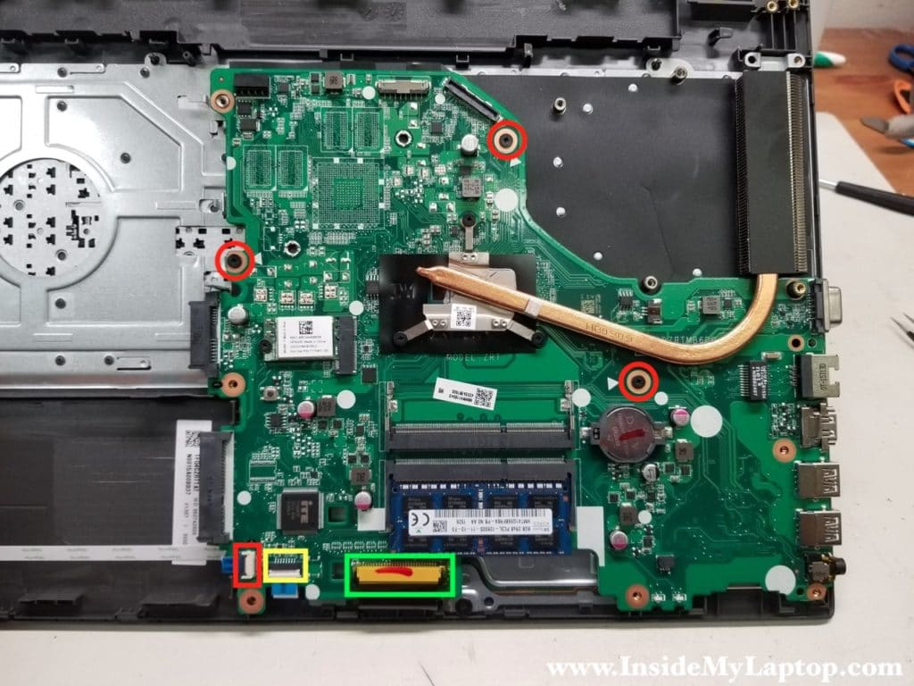 Remove Acer Aspire E 15 E5-573-77S3 motherboard