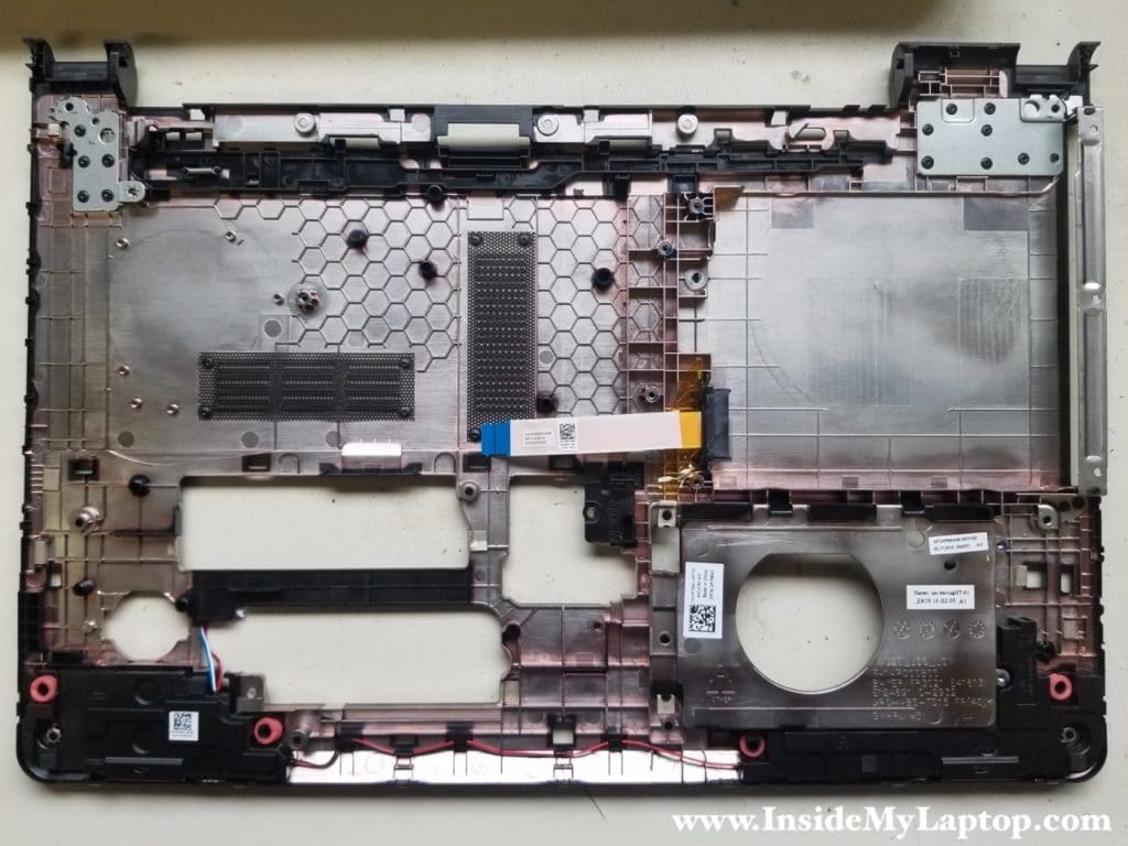 Dell Inspiron 15 5000 bottom case removed