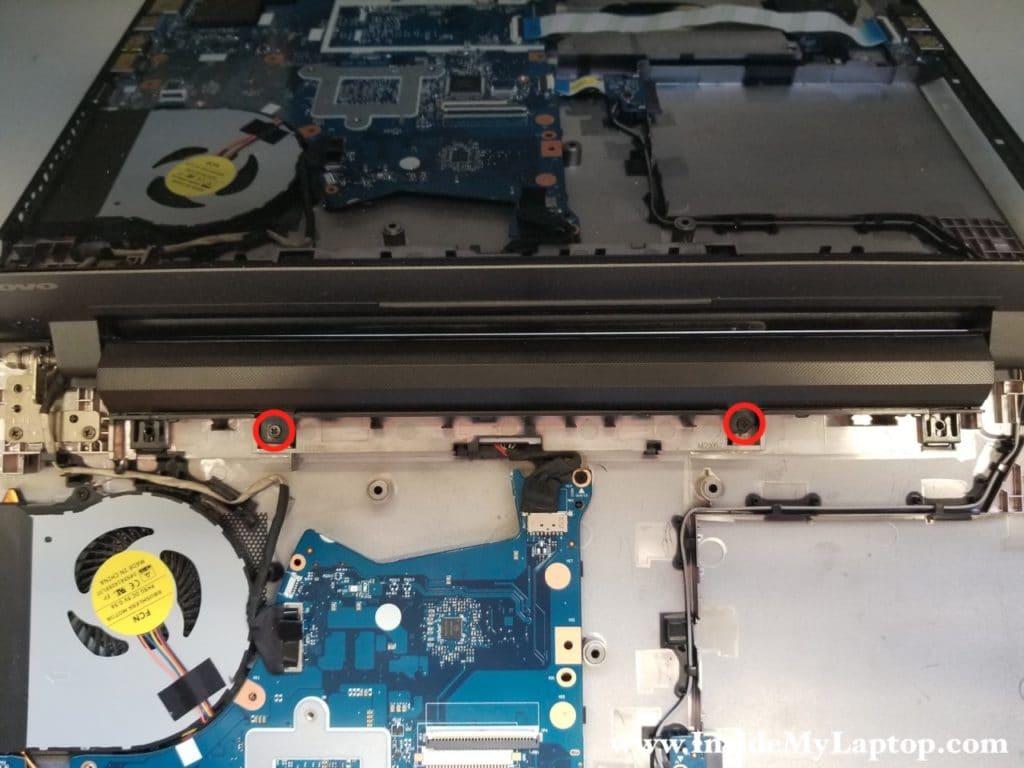 Remove battery screws