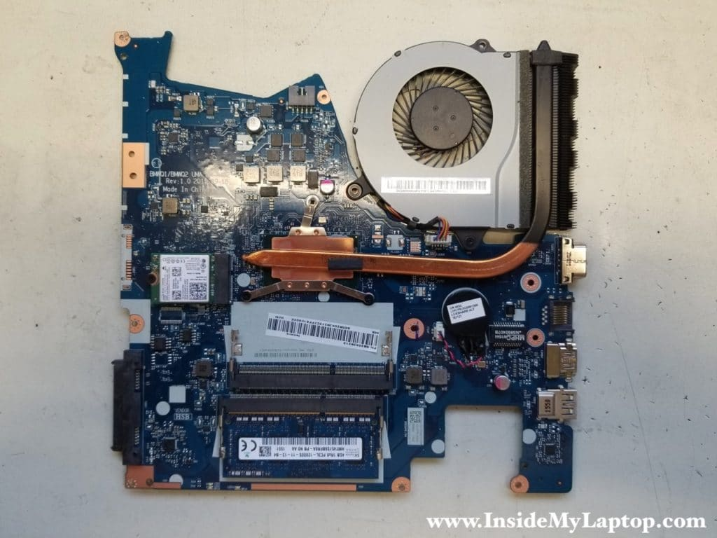 Lenovo ideapad 300-15ISK motherboard removed