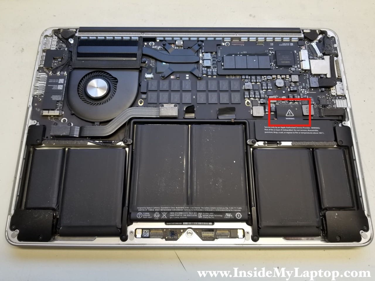 13″ MacBook Pro Retina – fixing no video issue by replacing