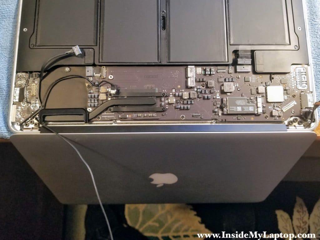 Place laptop upside down