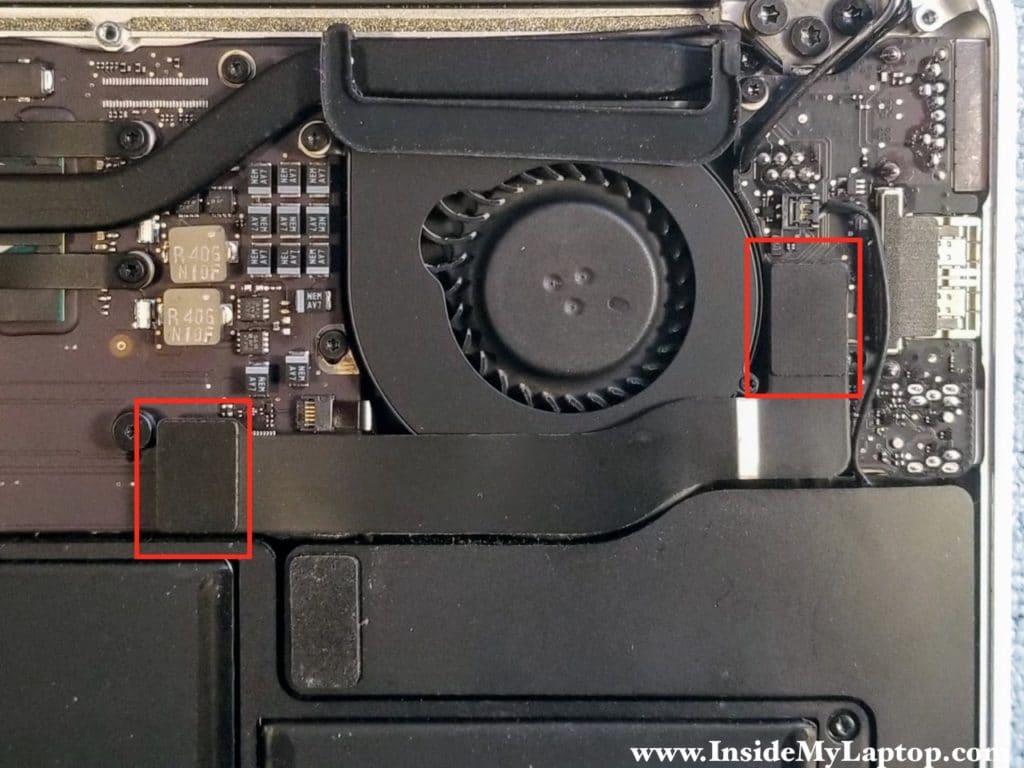 Disconnect I/O board flex cable