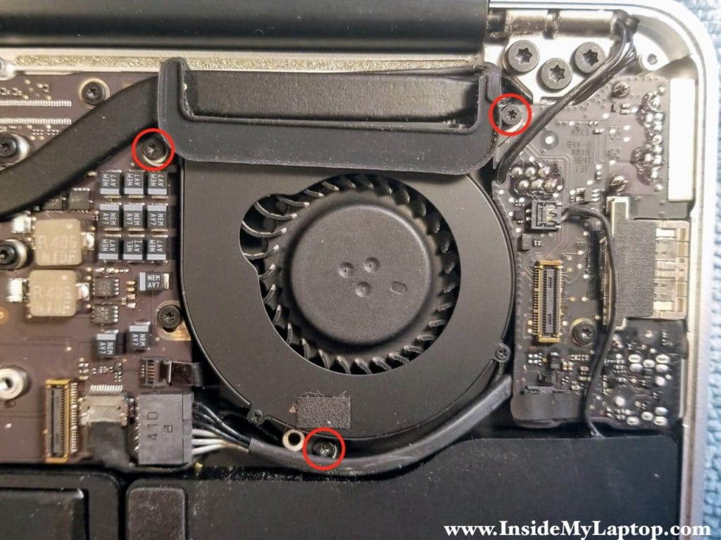 Remove fan screws