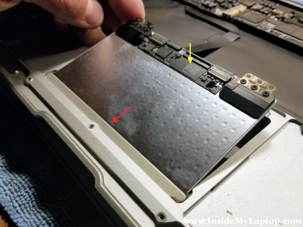 Install trackpad back into laptop case