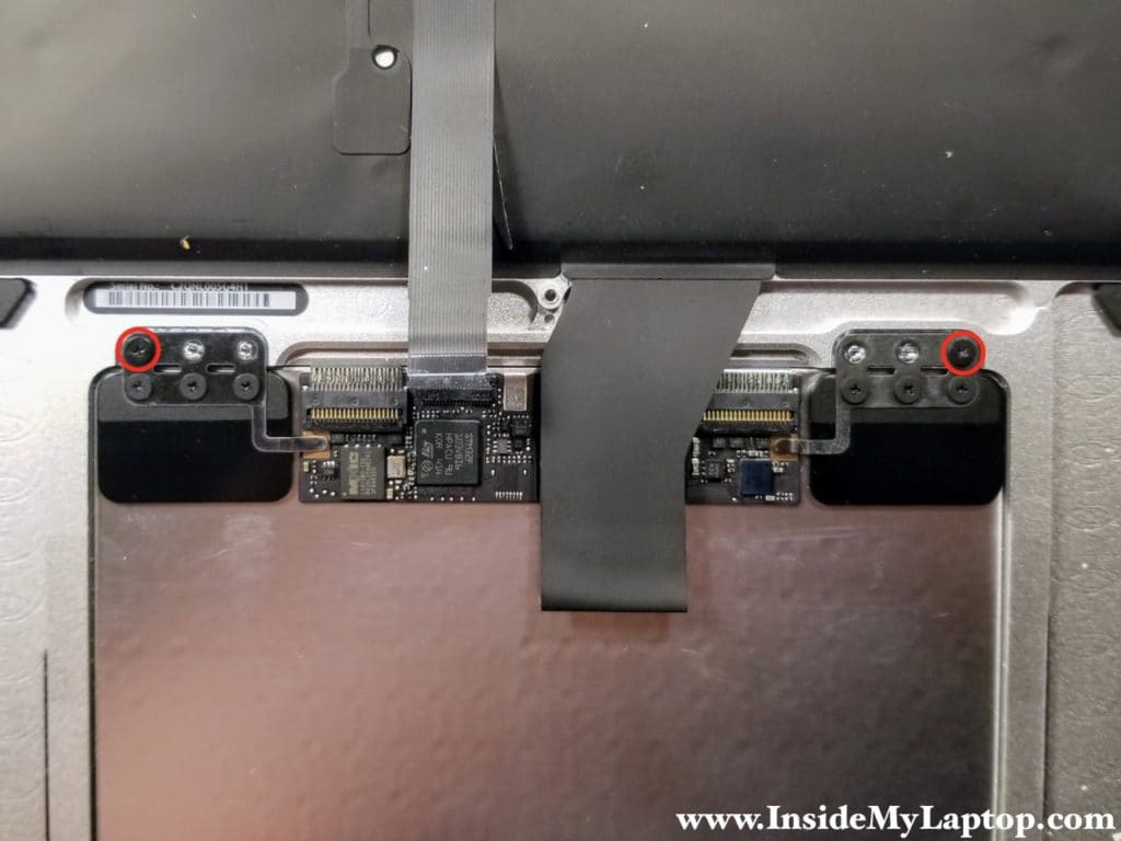 Secure trackpad with two screws