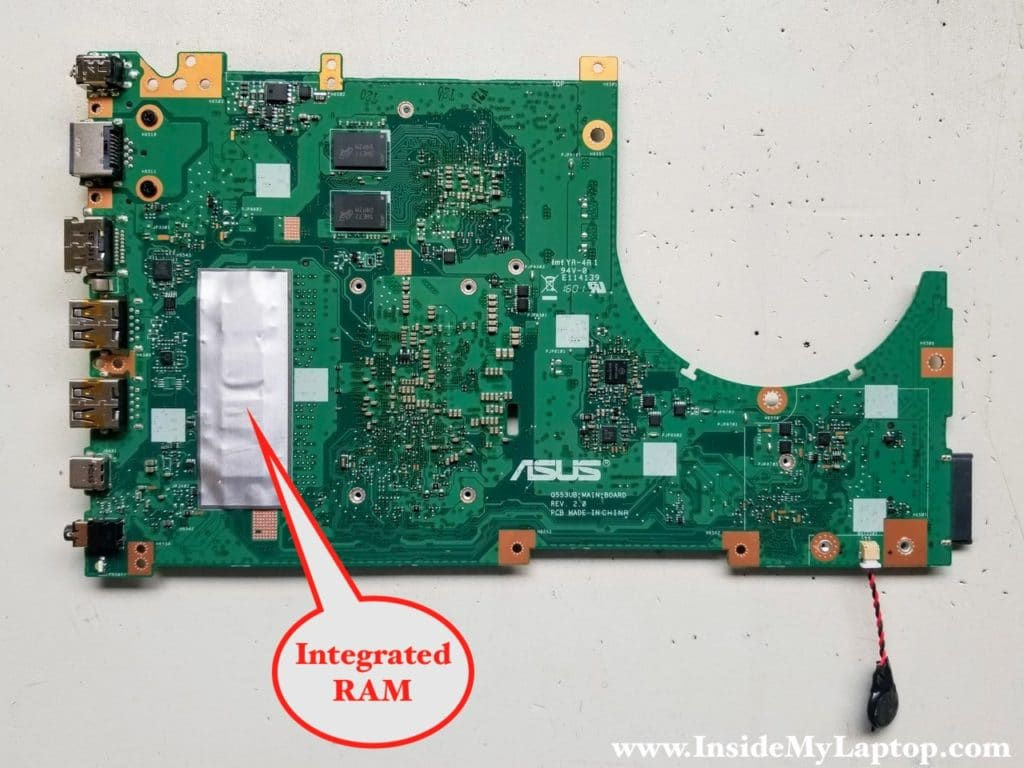 Asus Q553 Q553U Q553UB motherboard removed
