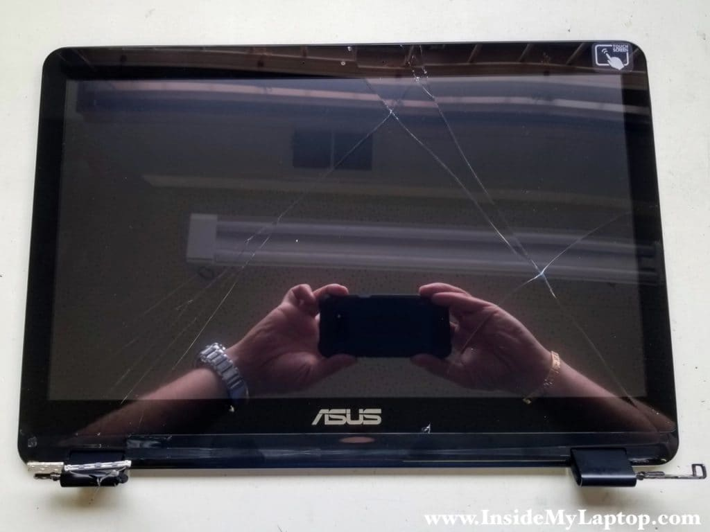 How to disassemble Asus Q553 Q553U Q553UB display panel