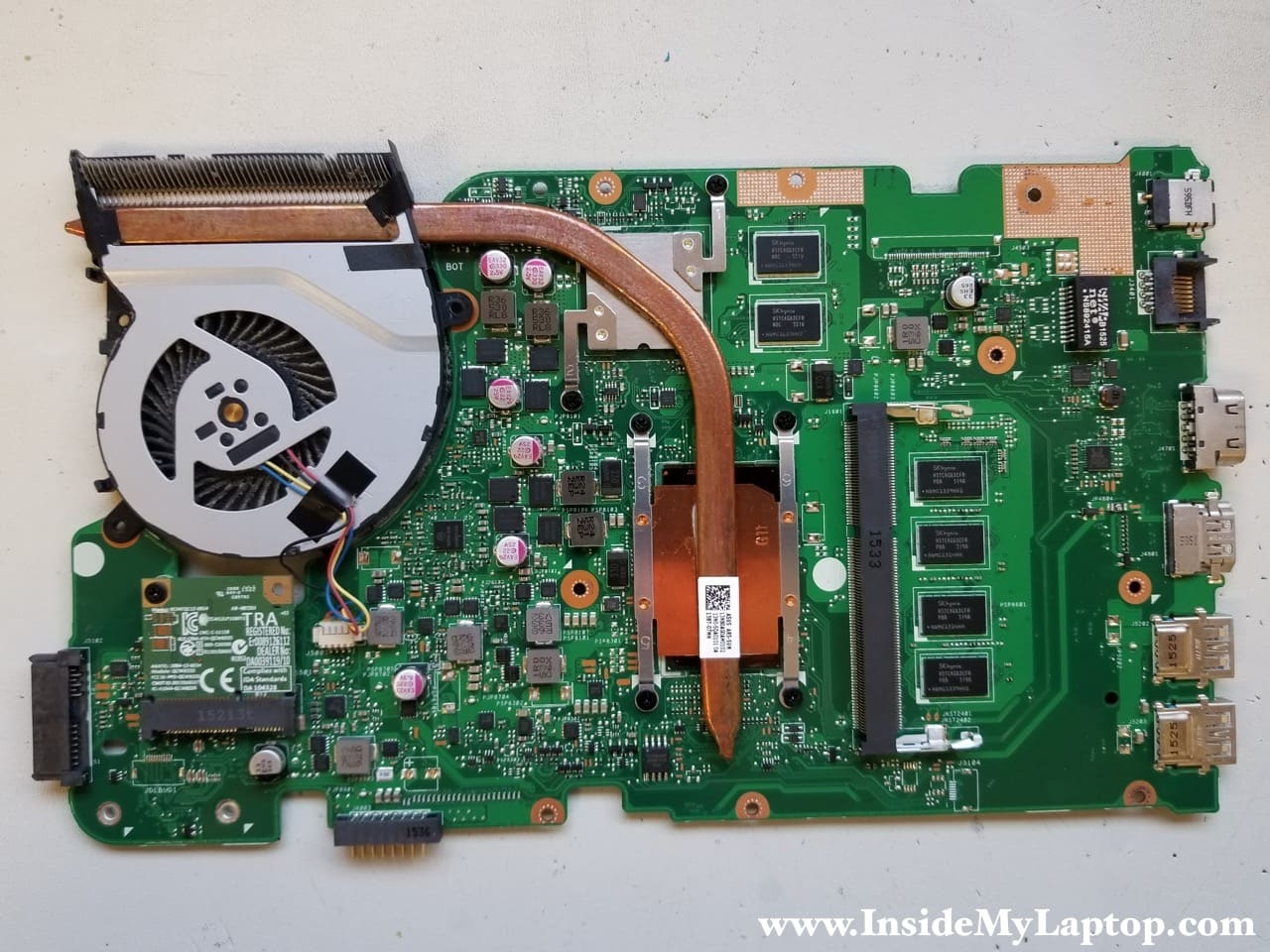Complete Disassembly Of Asus X555l X555u Series Inside My Laptop Dc Jack Wiring Diagram Access Fan Heatsink Wireless Card And