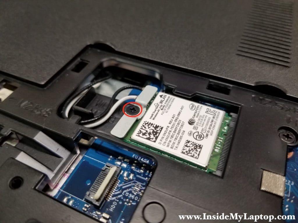 Remove wireless card bracket