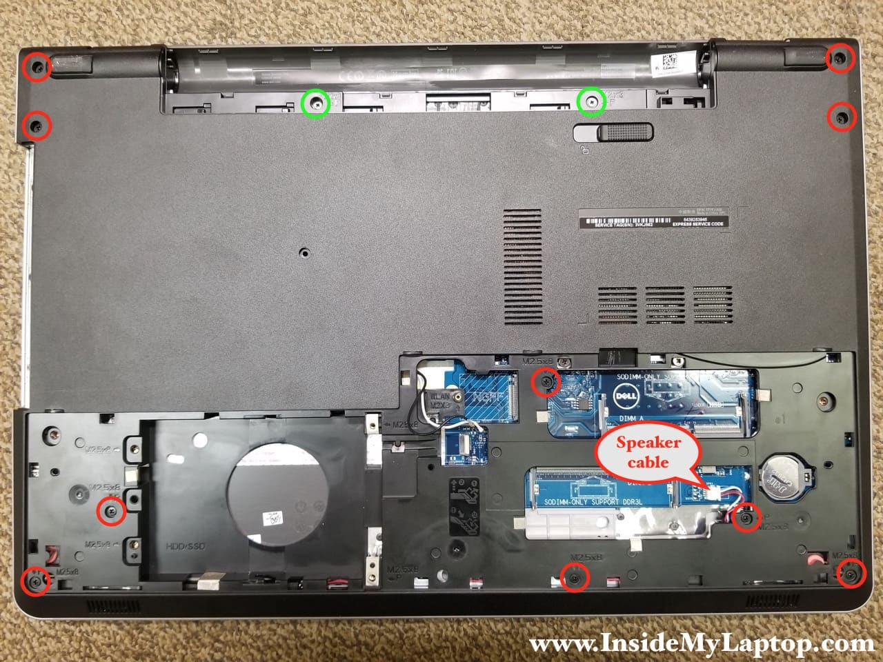 Taking apart Dell Inspiron 17 5000 Series 5759 5758 5755