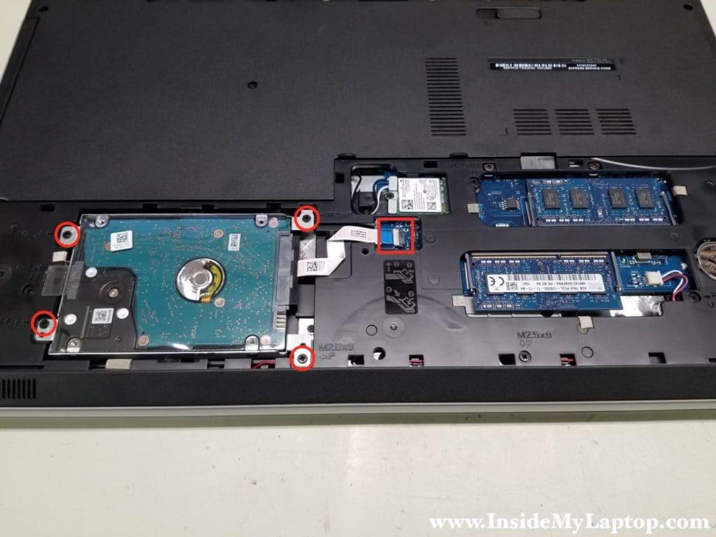 Remove hard drive screws