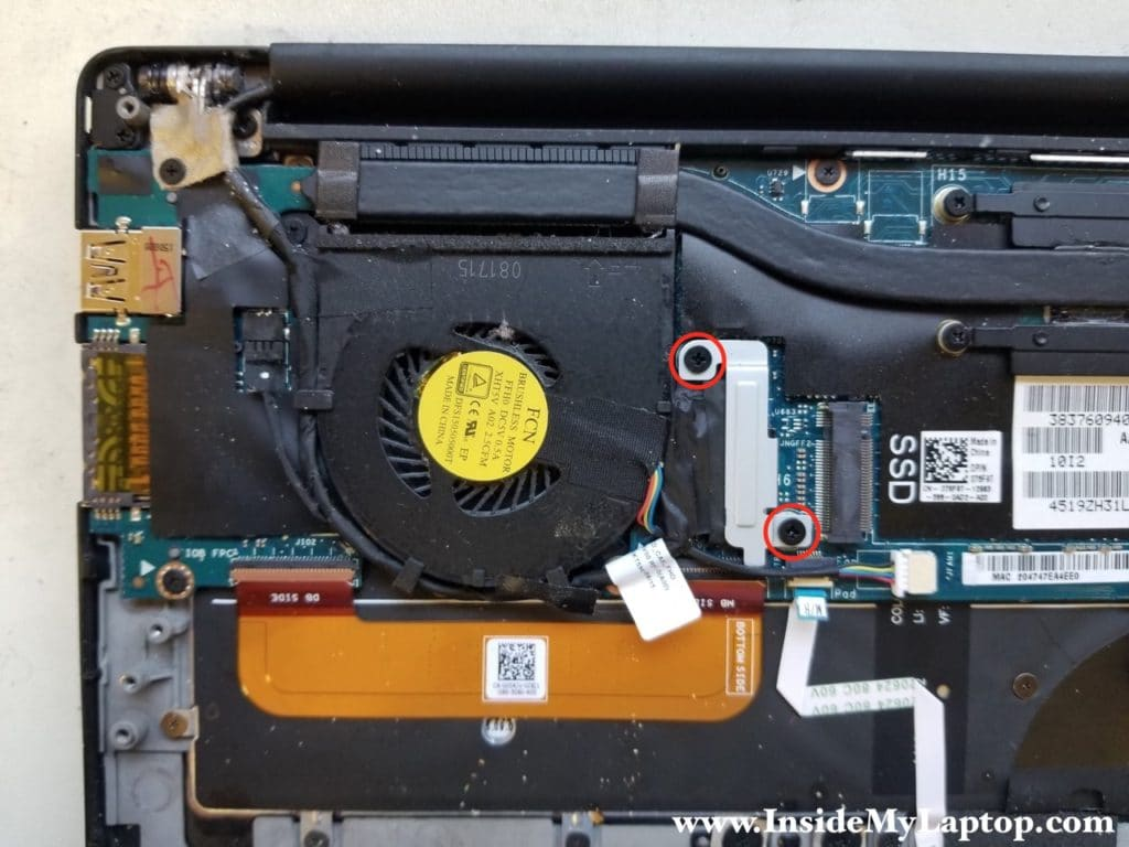 Remove display video cable bracket