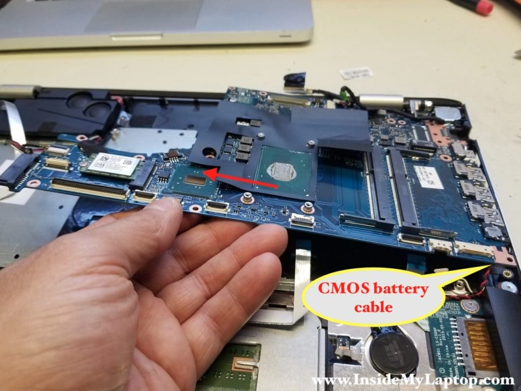Remove motherboard from laptop