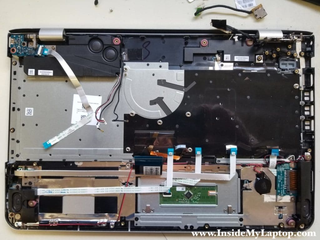 Top case with motherboard removed