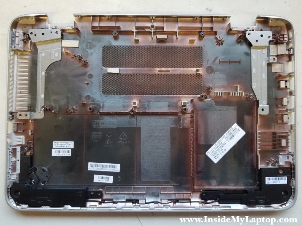 Bottom case with everything removed