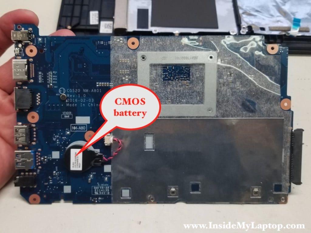 Access CMOS battery