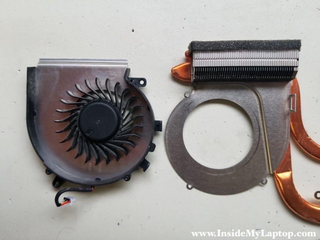 Separate fan from heatsink