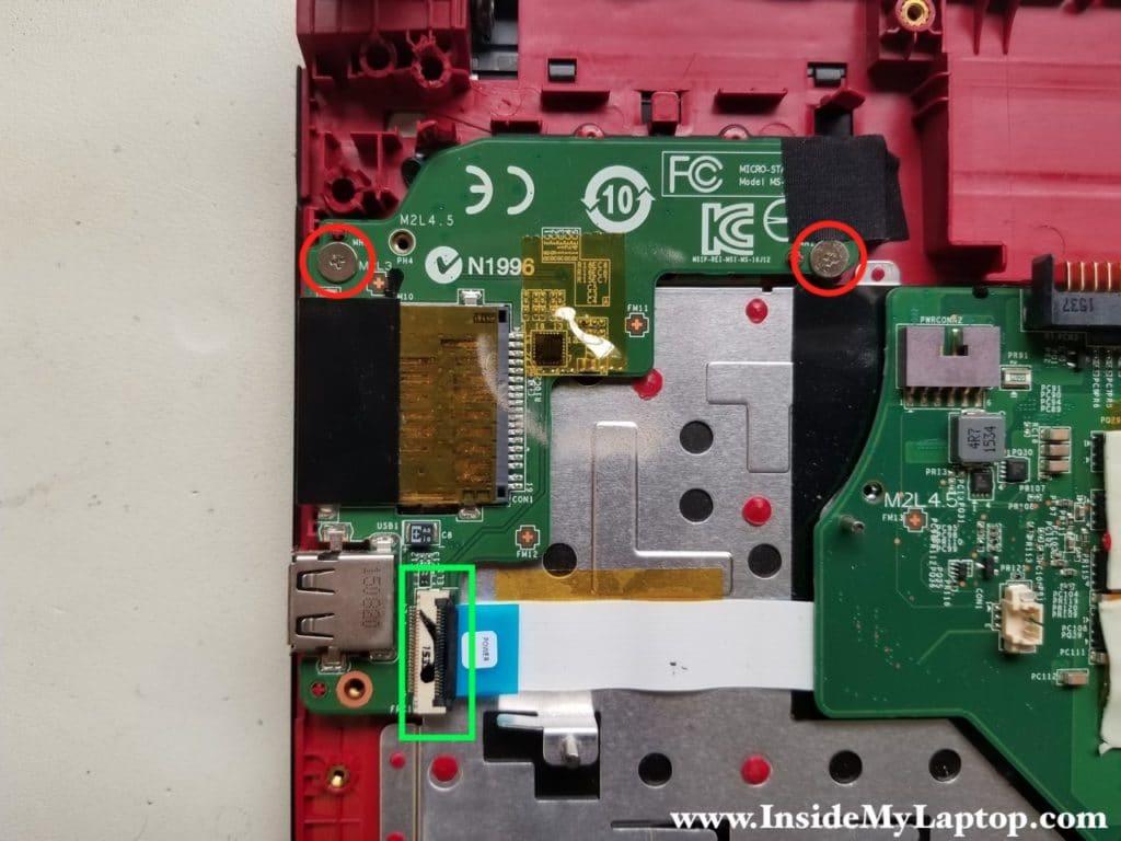Remove USB SD card reader board