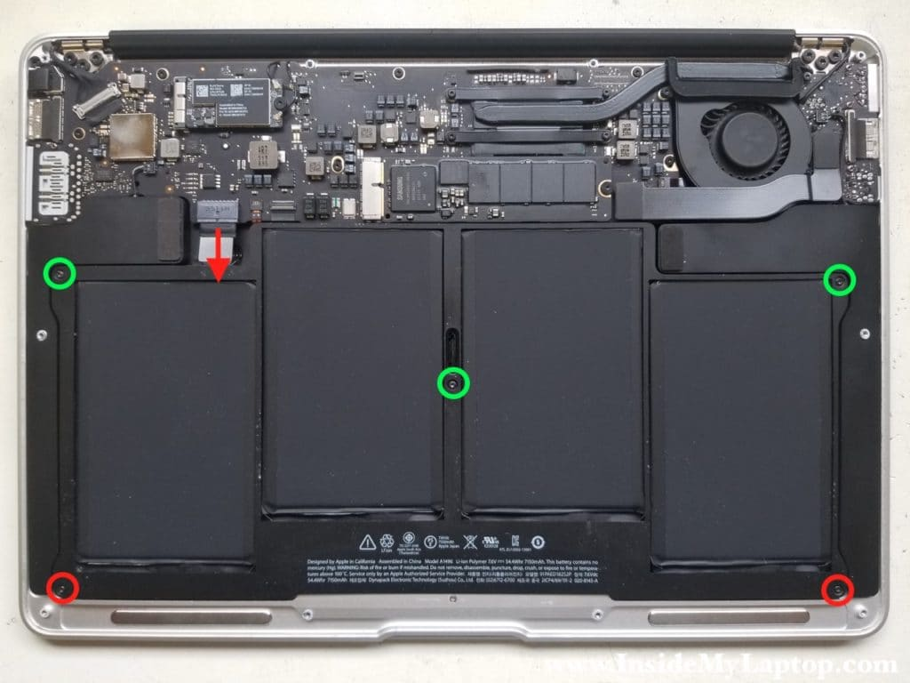 Remove MacBook Air battery