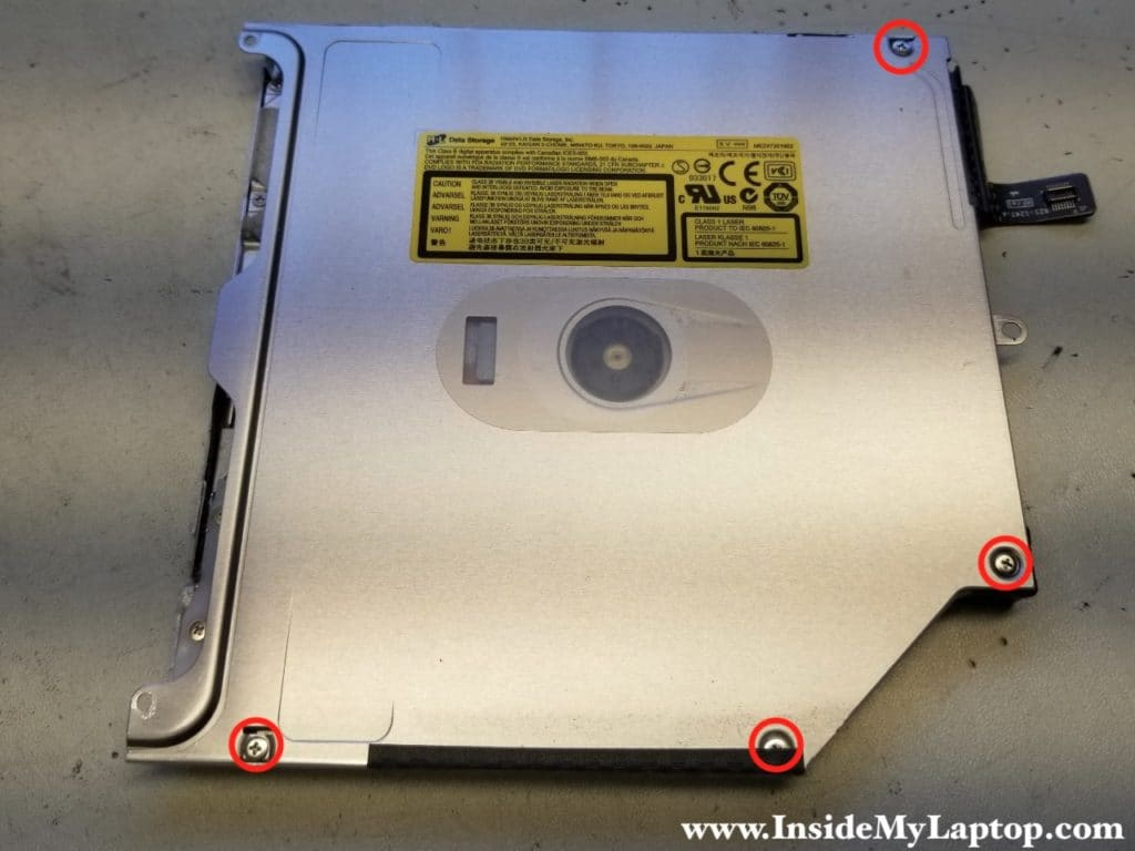Remove screws from optical drive cover