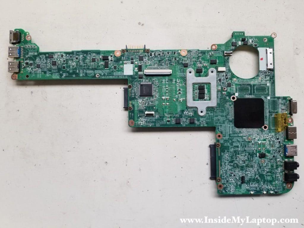 Bottom side of motherboard