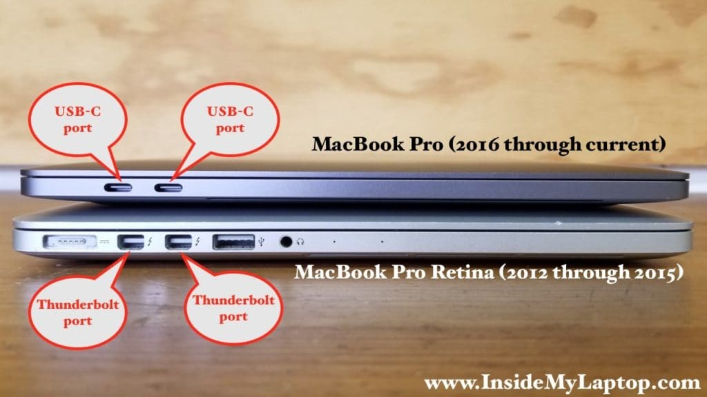 Connecting MacBook Pro Retina (2012-2015) to MacBook Pro (2016-1017)