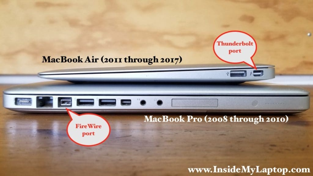 Connecting MacBook Air (2011-2017) to MacBook Pro (2008-2009)