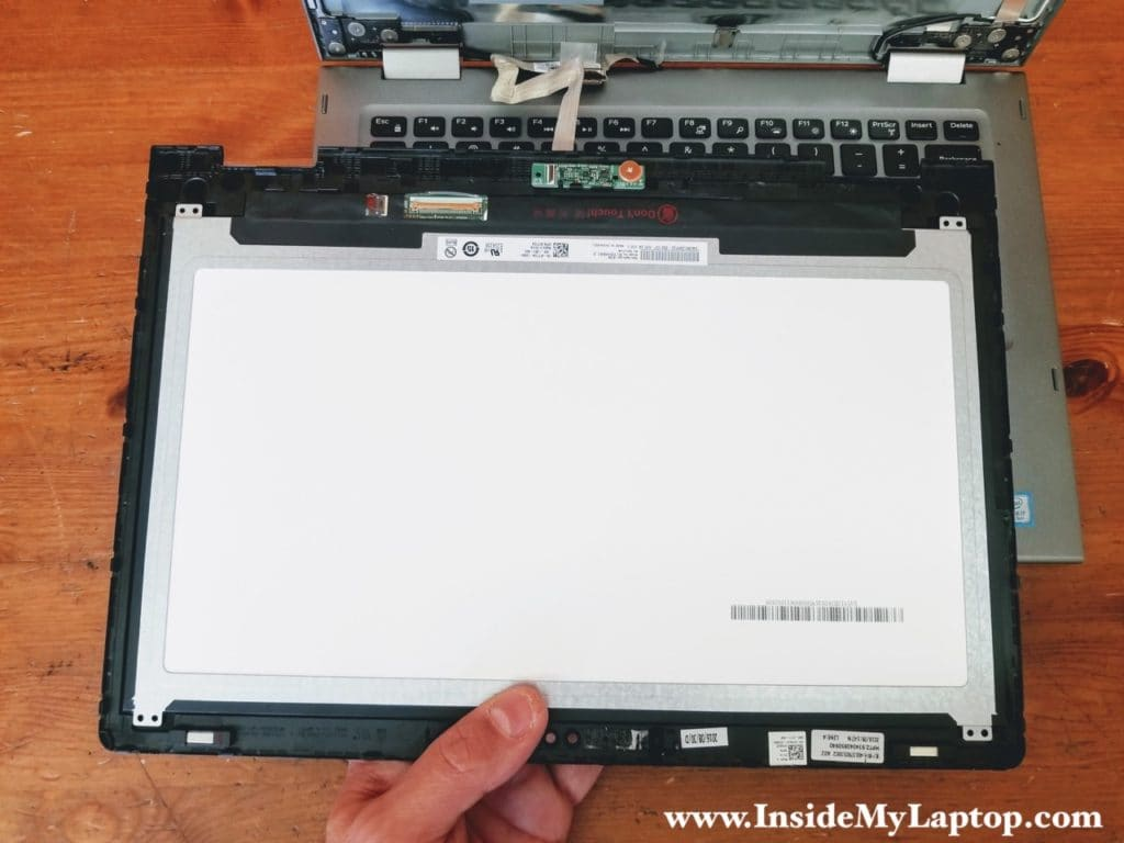 Remove touchscreen assembly