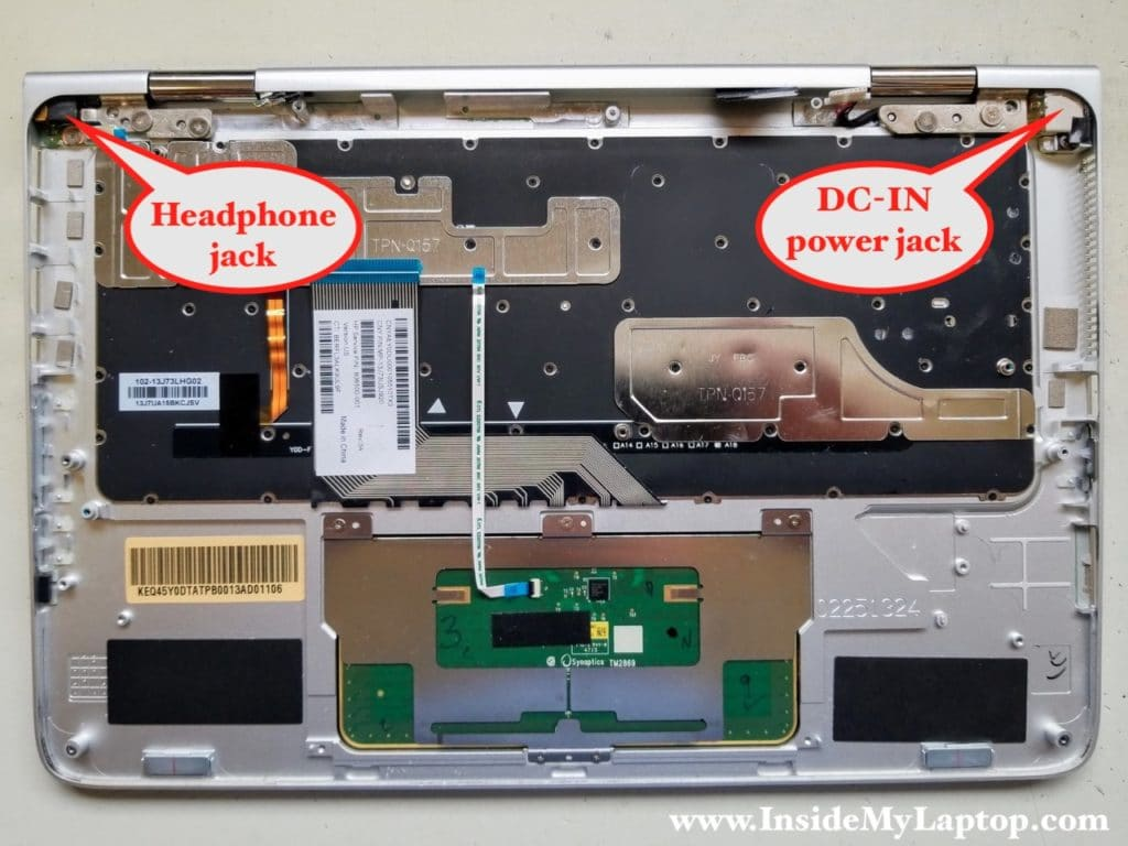 Access headphone jack and DC-IN power jack