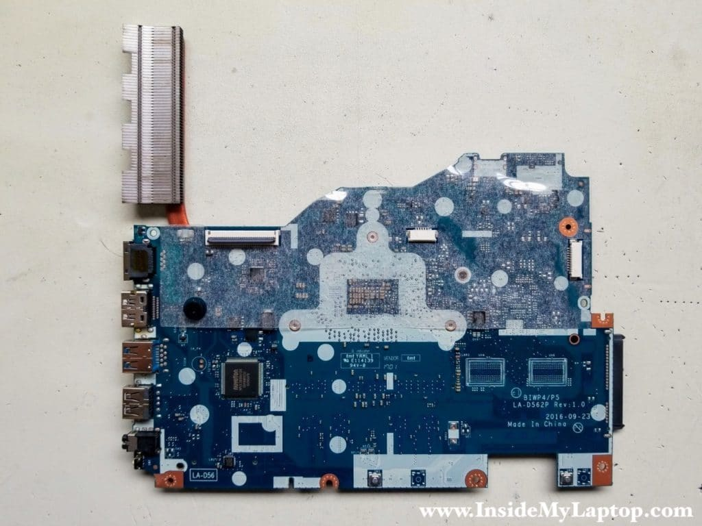 Other side of motherboard