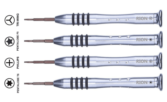 Apple Pentalobe and Try-wing screwdrivers