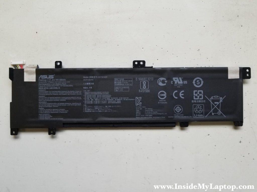 Asus K501U battery removed