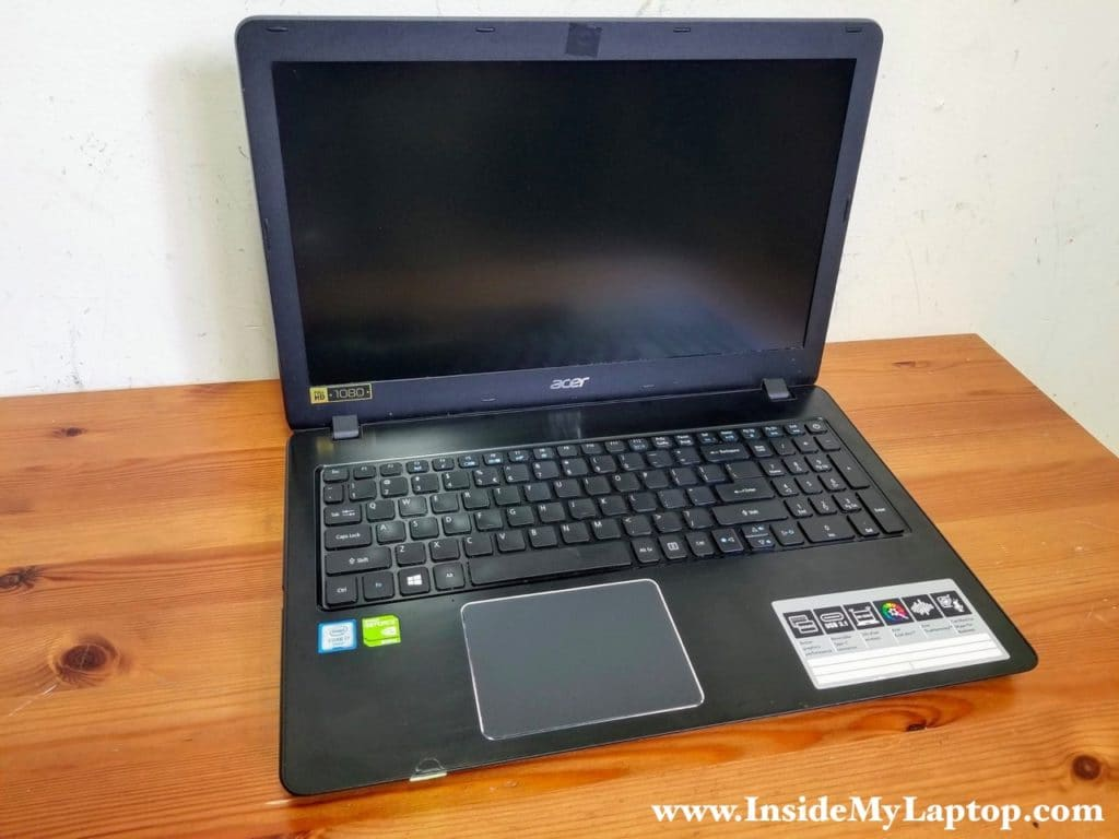 How to disassemble an Acer Aspire F5-573G-78R2 N16Q2.