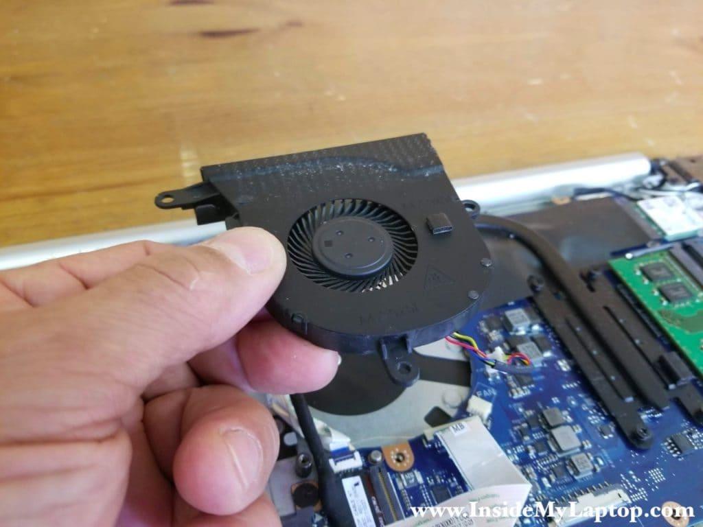 Remove laptop fan