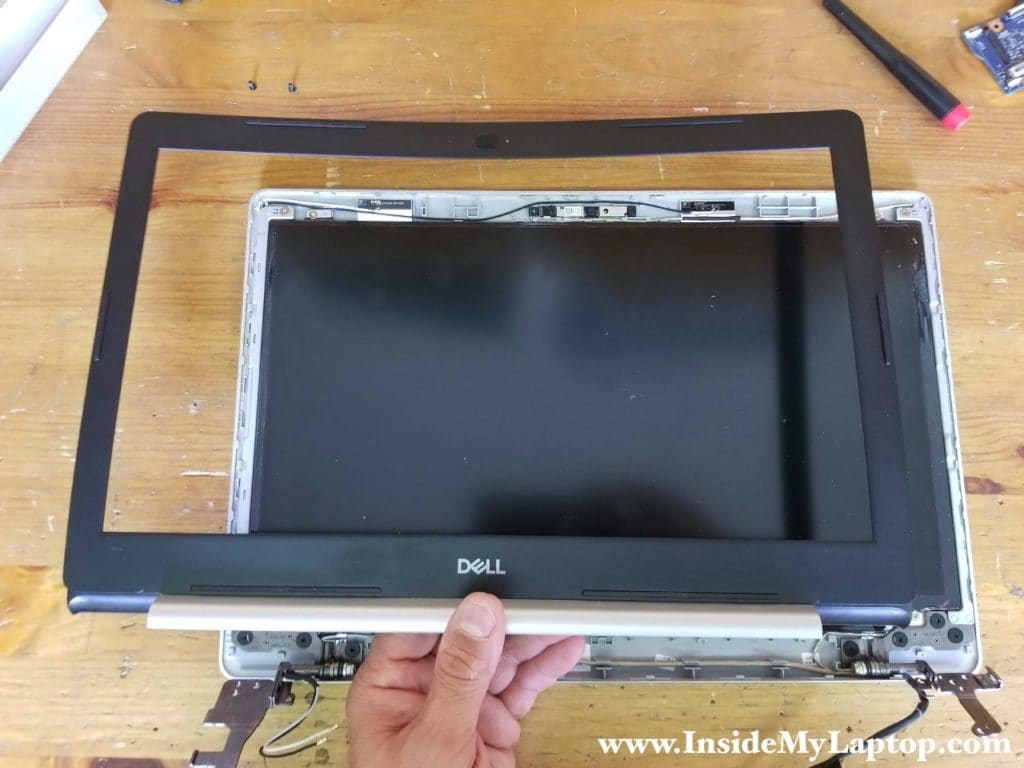Remove LCD bezel completely