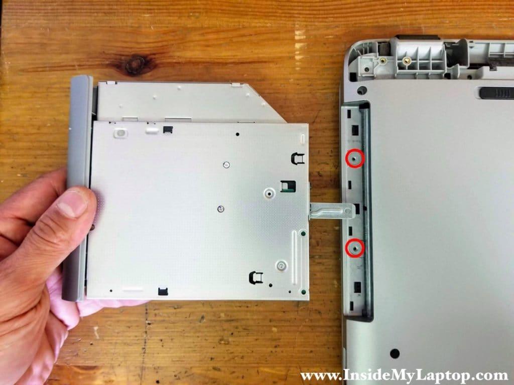 Remove optical drive