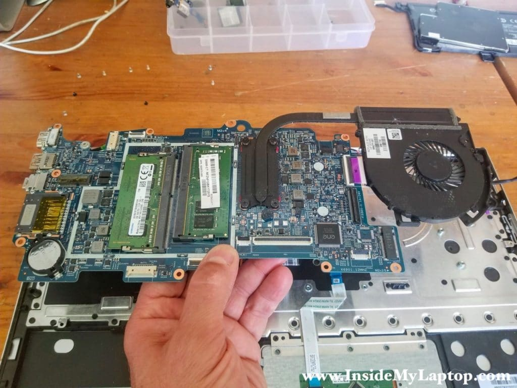 Remove laptop motherboard